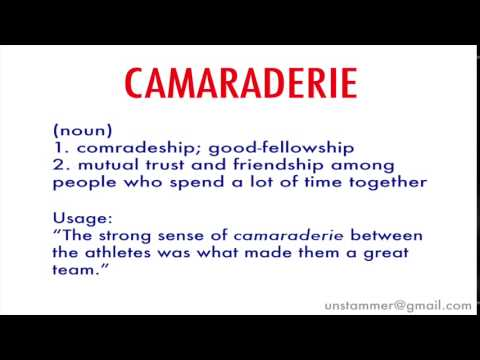 How to Pronounce Camaraderie - YouTube