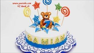 Kinder Geburtstagstorte mit Teddy| Explosionstorte | Motivtorte | Fondant Cake