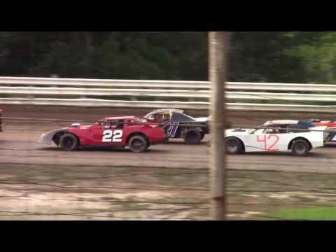Hummingbird Speedway (7-15-17): Street Stock Heat Race #2