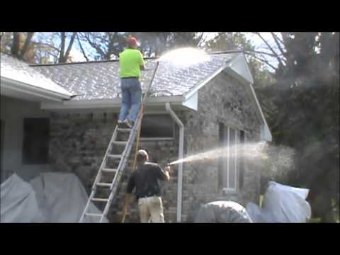 video of roof cleaning training, great out door business