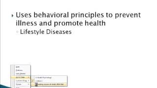 Psychology 101: Health Psychology