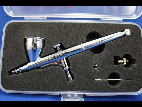 Sparmax Max-4 Gravity Feed 0.4mm Airbrush Product Review & Demonstration