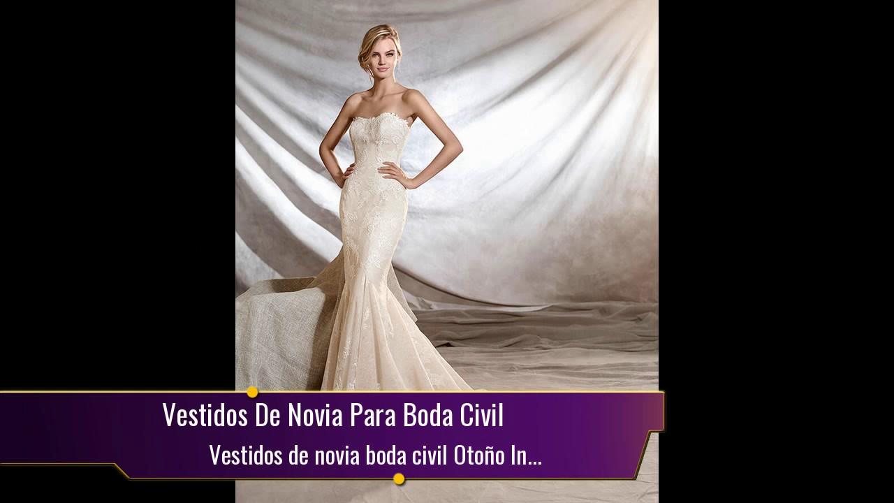 a4e7afe47 Te casas ▻Vestidos de novia boda civil Otoño Invierno - YouTube