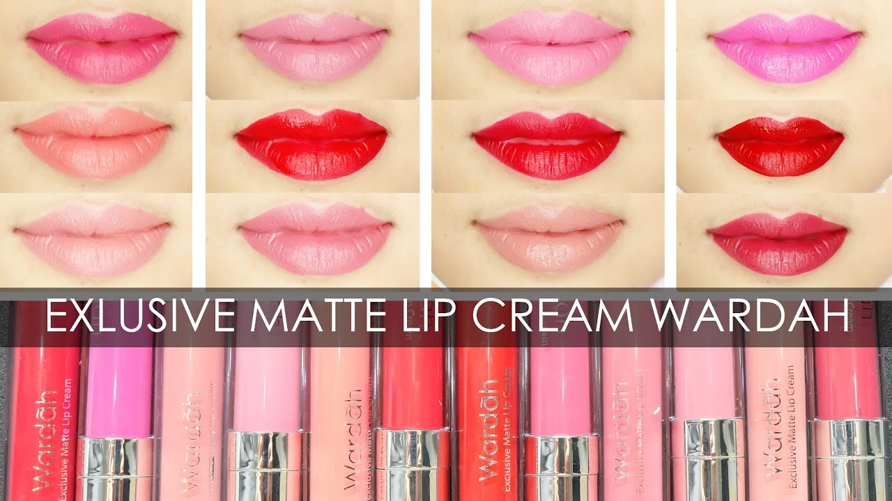 Swatches Review Exlusive Matte Lip Cream Wardah Irna Dewi