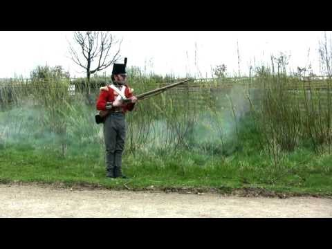 Napoleonic British Infantry - Loading and Firing a Musket - 68th Durham Regt