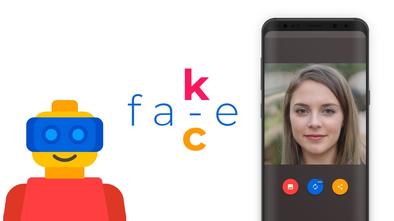 Fake Face Android App - generate human like face