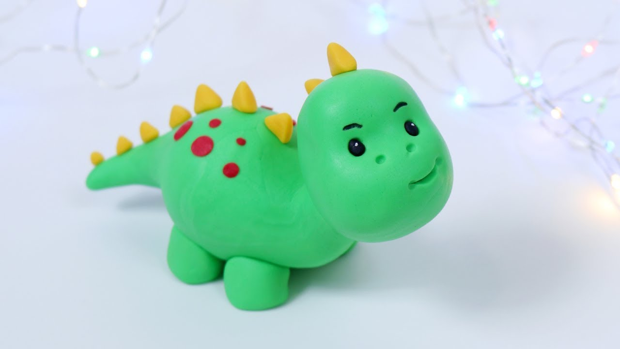 How To Make Fondant Dinosaur Easy Cake Topper Step By