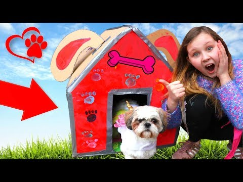 DIY PRINCESS BOX FORT FOR MY PUPPY!! Ruby Rube