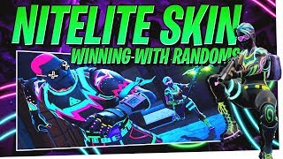 NEW NITELITE Skin Victory with Randoms - Fortnite Season 4 Gameplay