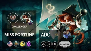 Miss Fortune ADC vs Ezreal - NA Challenger Patch 922