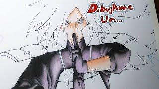 DibujAndo a MADARA UCHIHA con prismacolor. Speed Drawing MADARA UCHIHA  (prismacolor)