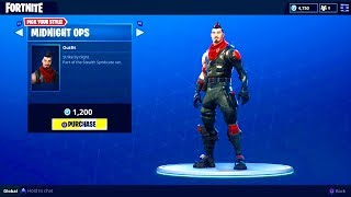 "NEW ""MIDNIGHT OPS"" OUTFIT (Syndicate Skin) - Fortnite Battle Royale"