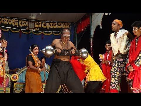 Yakshagana -- Leela manusha vigraha - 13 - Dombarata - Hasya: Bhagavatharu Ravichandra Kannadikatte -  Chende Padmanabha Upadhyaya -  Maddale Vinaya Acharya Kadaba -  Divakar Rai Sampaje as Shri krishna -  Seetharam kumar kateel as Vijaya -  Bantwala Jayarama Acharya ,Prajwal kumar Guruvayanakere Vishwanatha edneer and Prakash Nayak Neerchal as Dombaratadavaru {Mayavi Trinavartha} -  Held At Edneer Mutt ,on 22.5.2017