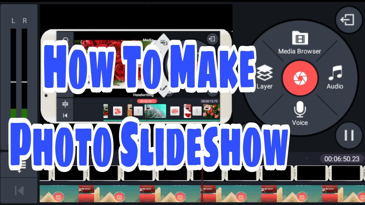 how to make a slideshow with music in the background