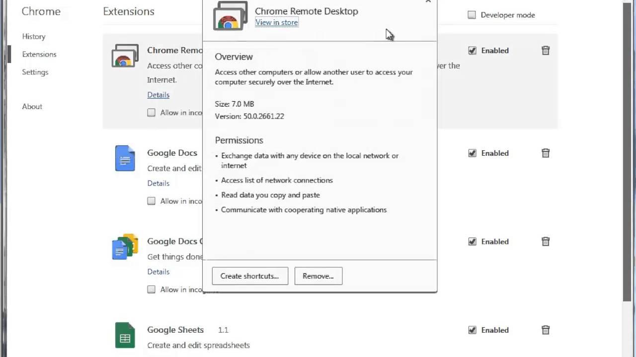 Uninstall Chrome Remote Desktop for Mac