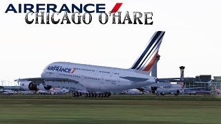 FSX [HD] - Air France | A380 | Approach - Chicago O
