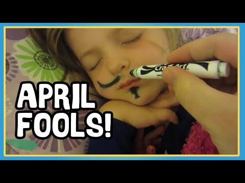 April Fools Mustache Prank! - Pranking Kids