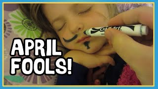 April Fools Mustache Prank! - Pranking Kids