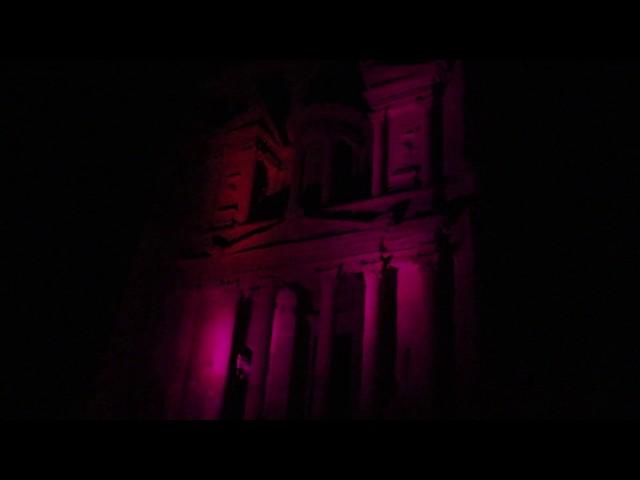 JORDAN - The Treasure by night, Petra