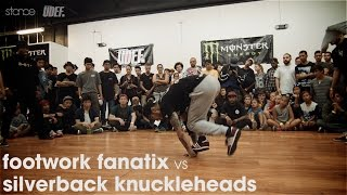 Footwork Fanatix vs Silverback Knuckleheads // .stance x udeftour.org // Van Jam III [finals]