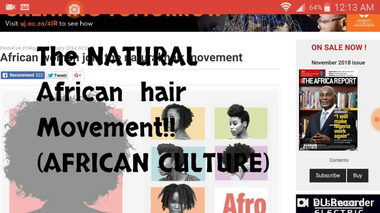 The African Natural Women's Hair Movement: Africa