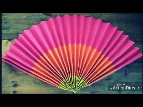 DIY Multicolor Paper Fan