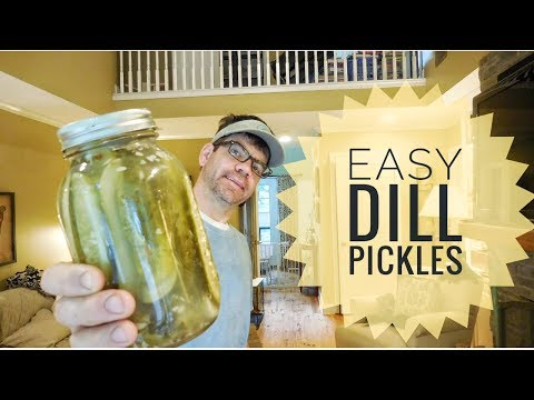DILL PICKLES - Easy Homemade Dill Pickle Recipe (Canning Pickles)- The Pickle Dance