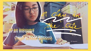 school vlog + my thoughts on eating alone   a day in the life of a high school introvert