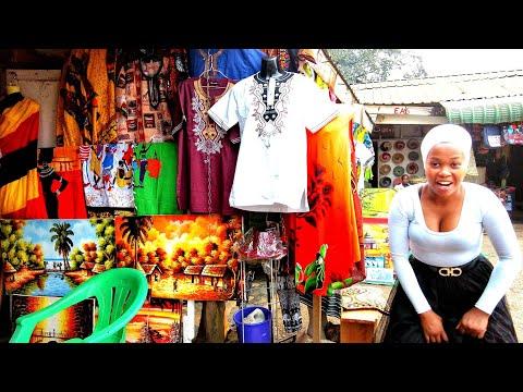 The Biggest African Art Craft Market in Kampala uganda Africa Walk Videos