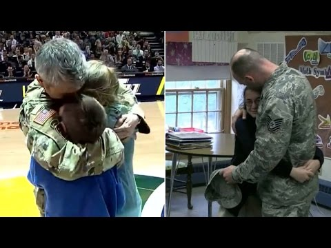 This Father's Day, See These Heroic Military Dads Surprise Their Kids