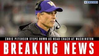 Breaking News: Chris Petersen To Step Down As Head Coach At Washington   Cbs Sports Hq