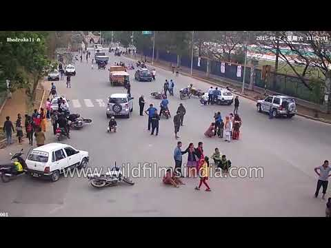 Bhukamp in Nepal : CCTV footage of 25th April 2015