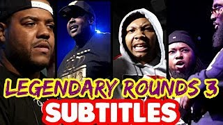 Legendary Rounds Vol 3 SUBTITLES - Charlie Clips, Twork, Ave, Marv, Quest | Masked Inasense