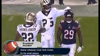 New Orleans Saints ruthlessly mock Tarik Cohen for his small stature