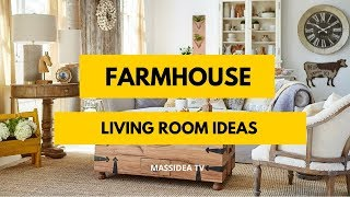 95+ Awesome Farmhouse Living Room Ideas for Home