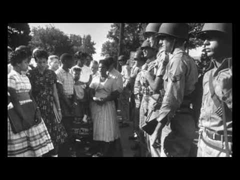 4th September 1957: Black students denied entry to Little Rock High School