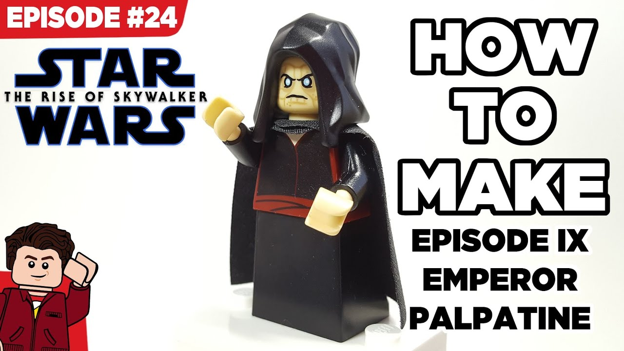 How To Make Lego Emperor Palpatine From The Rise Of Skywalker Youtube