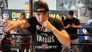 JOHN MOLINA LOOKING PHYSICALLY BIGGER FOR ORTIZ FIGHT; DOES LIGHT SHADOW BOXING DURING WORKOUT