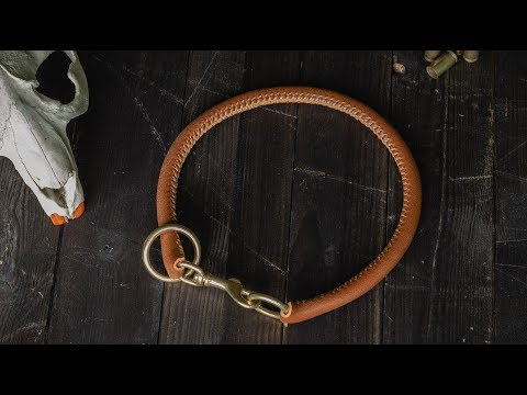 #06 Vegetable Tanned Leather Rolled Slip Dog Collar Dyi How It's Made?