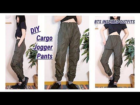 diy-cargo-jogger-pants-/-bts-inspired-outfits-/-men's-clothes-/-ファッション-/-옷만들기-/-costuraㅣmadebyaya