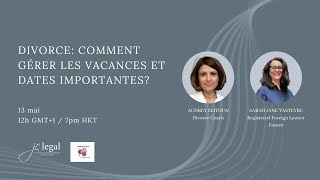 Special dates and holidays after divorce (French)   Sarah Jane Tasteyre and Audrey Zeitoun