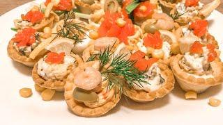 Простые рецепты Вкусных Закусок на Праздничный стол 2020! Тарталетки и Фаршированные Яйца!