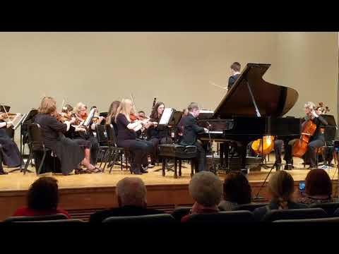 Jakob playing at the Utah Philharmonic symphony