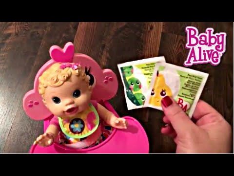 Baby Alive Changing Time Baby Doll Unboxing with Cupcake Booster Seat