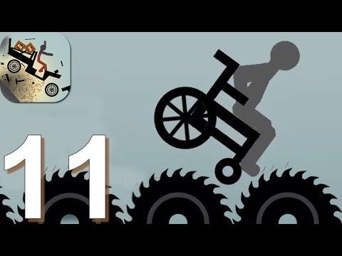 Ragdoll Dismounting Stickman - Gameplay Walkthrough Part 11 Fat Stick Vs Saws (Android Game)
