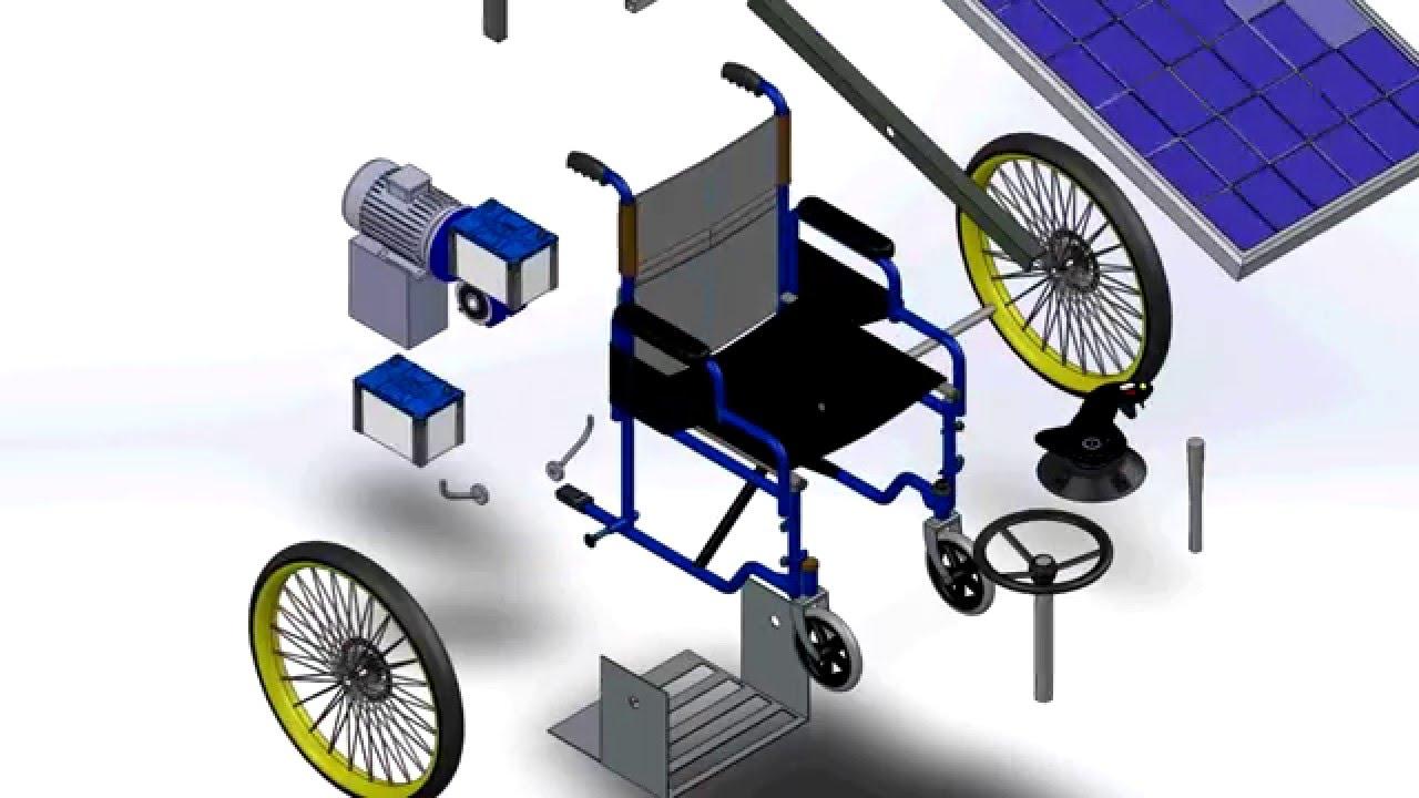 Wheel Chair Motor Backless Yoga A Dc Drive For Solar Electric Wheelchair Birzeit University Youtube