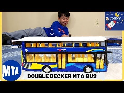 Johny Unboxes NEW MTA Double Decker Bus Toy