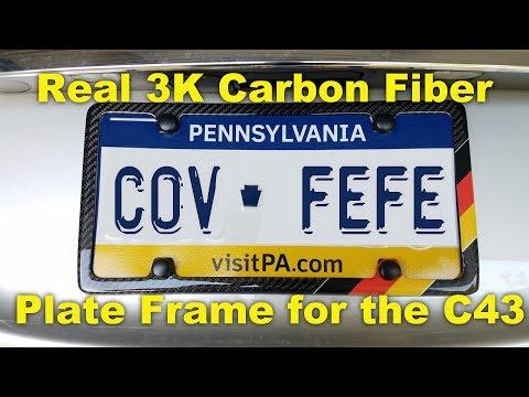 3K Carbon Fiber license plate frame!