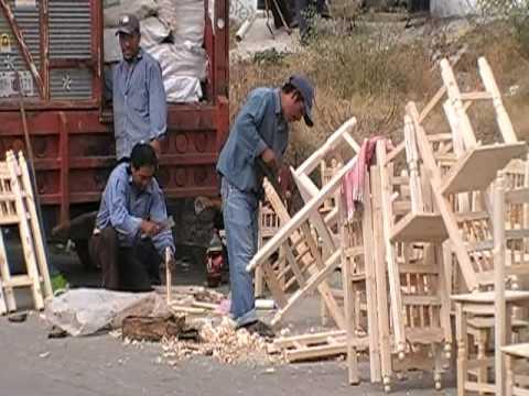 Oaxaca sillas de madera youtube for Fabrica de bares de madera