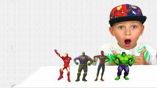 색칠공부를 하면 슈퍼히어로랑 신나게 춤을 춘다고? 헐크 스파이더맨 아이언맨 타노스 ㅣ Superheroes Dance with Mark ㅣ 아엘튜브